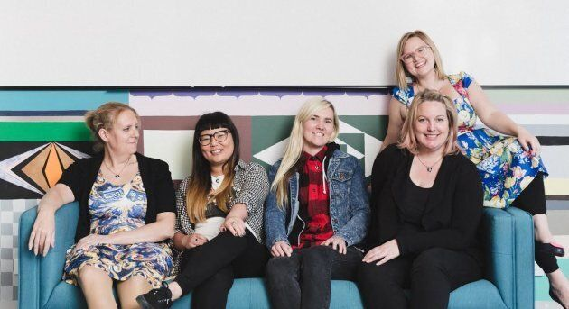 The team at Girl Geek Academy, who are raising the profile of women in technology and trying to encourage young women to enter the industry.