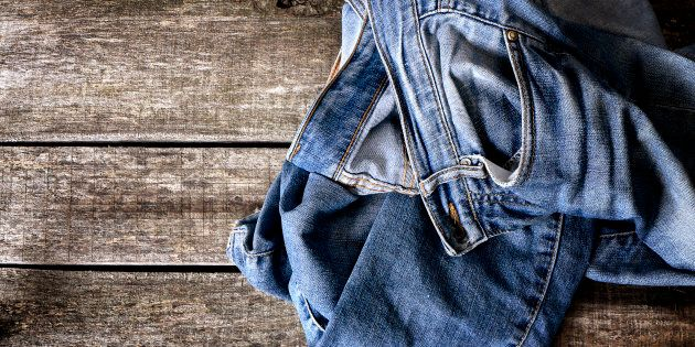 Your old jeans can be used to give colour to new jeans. It's a win