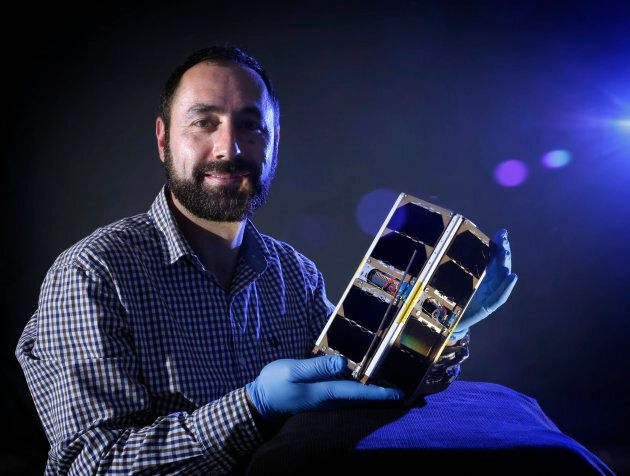 Deputy director of ACSER, Elias Aboutanios, has high hopes for the UNSW-EC0 cubesat he helped build.