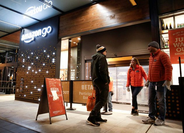Amazon's first foray into bricks-and-mortar retail, the first Amazon Go store in Seattle has no queues...