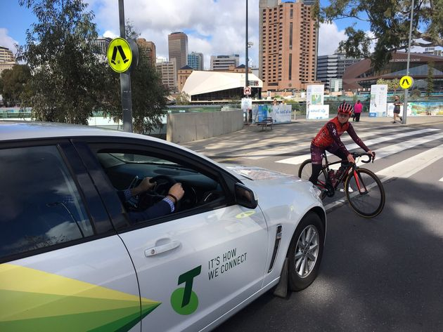 Semi-professional cyclist Verita Stewart took part in the Adelaide demonstration on