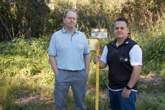 Researchers Dr Ash Tews and Dr Phillip Valencia with the