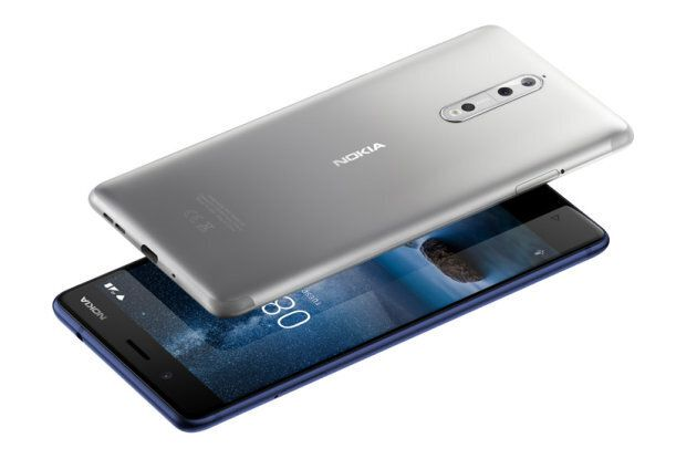 The front and back of the new Nokia 8