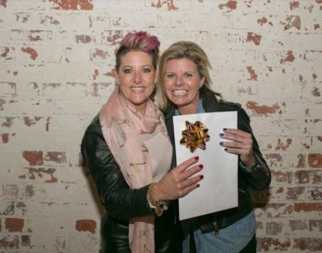 Nicole Byrne and Penny Whitelaw after winning the recent StartupVic eCommerce Pitch
