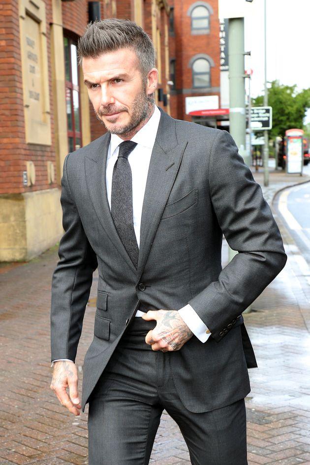 David Beckham arrives at Bromley Magistrates Court on