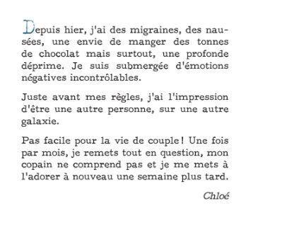 L'histoire de Chloé est un condensé de témoignages recueillis par Lucile de