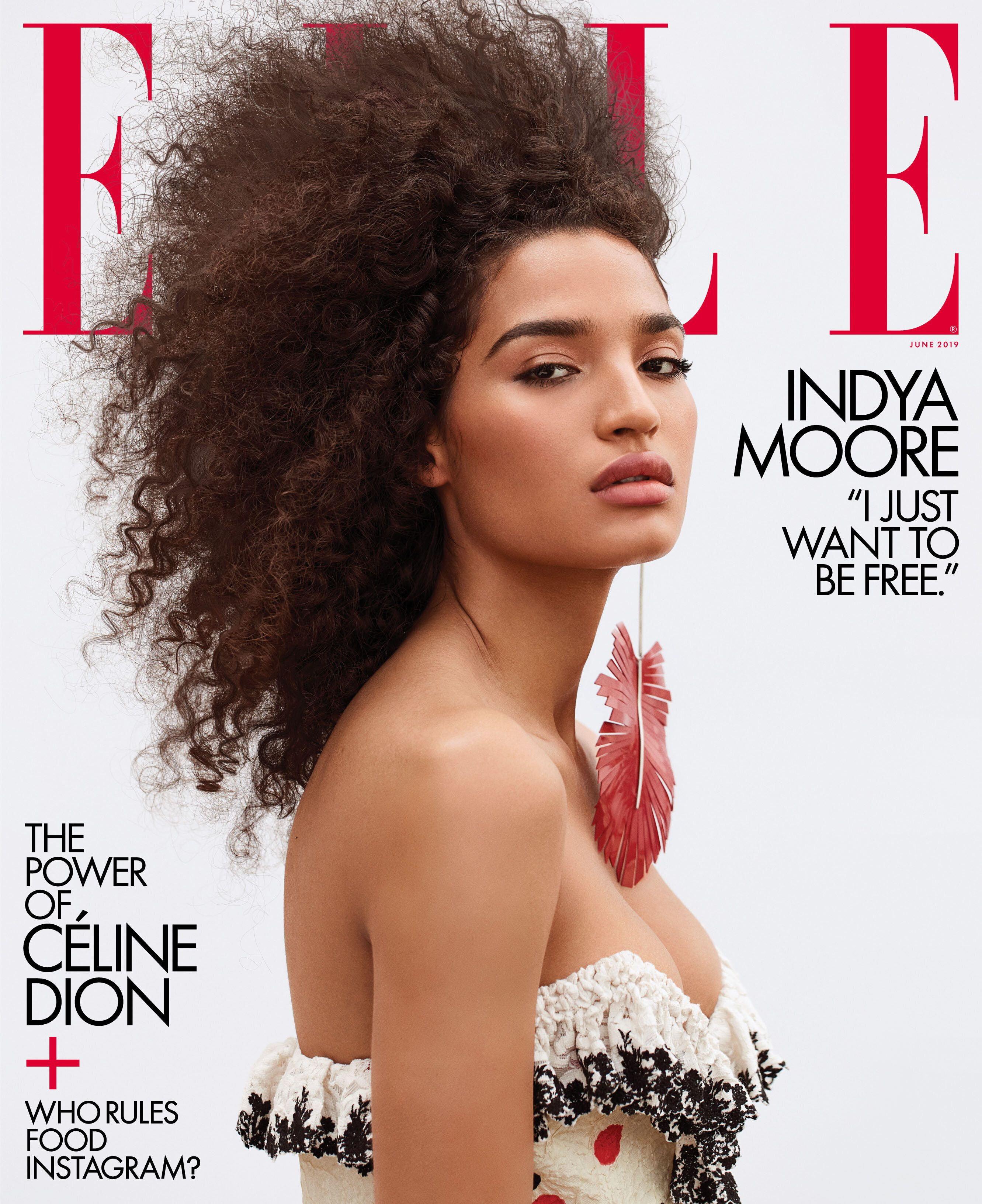 "Indya Moore, who plays Angel on FX's ""Pose,"" is Elle Magazine's first transgender cover star."