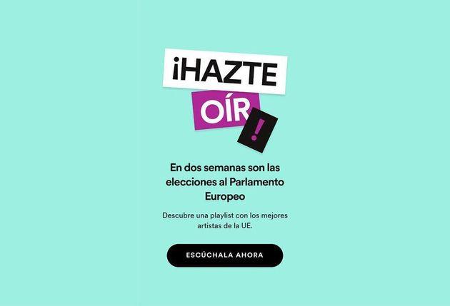 Spotify crea una lista para las elecciones europeas (y esta es la canción que vincula con