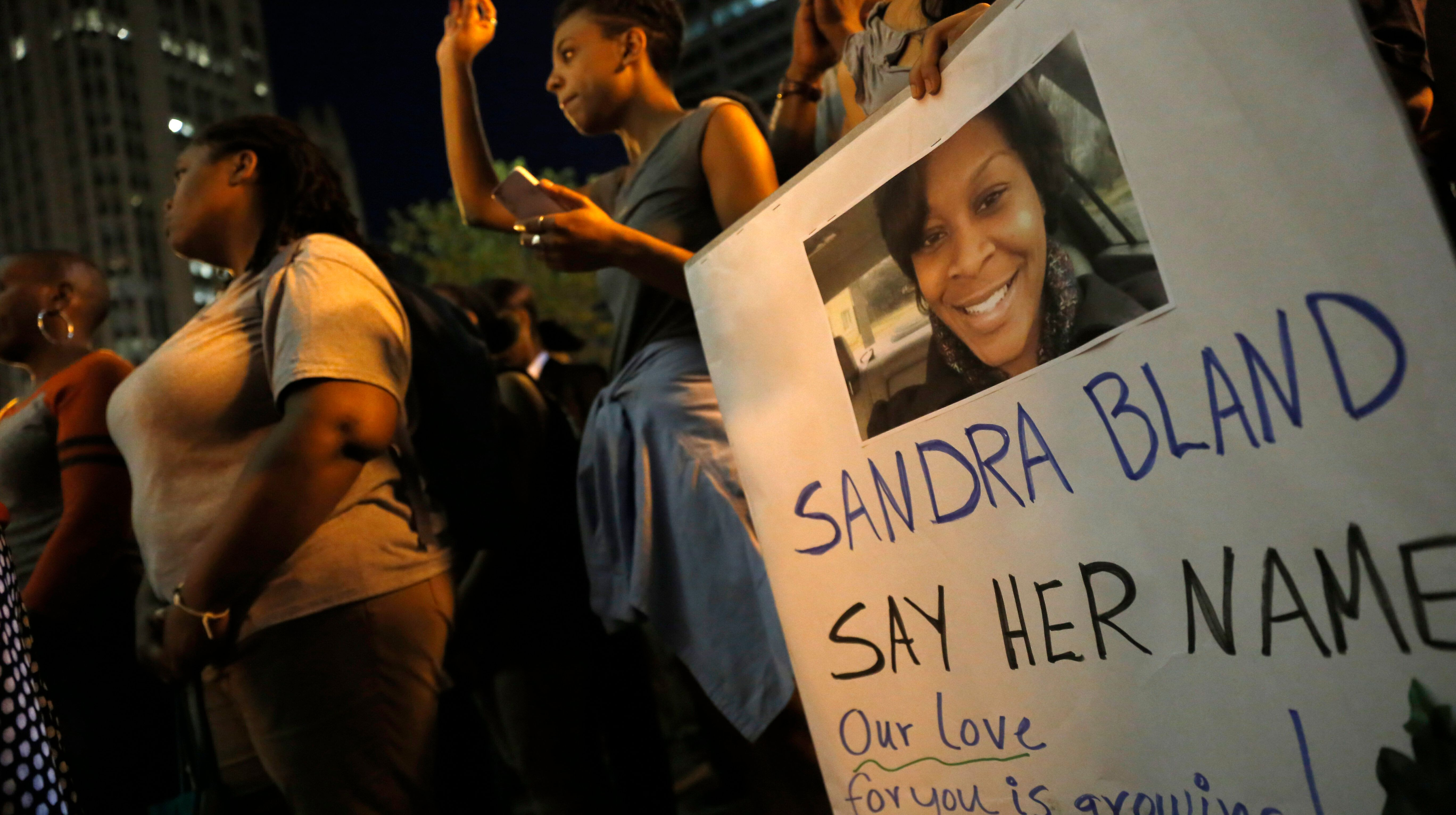 Bland was found hanged in a jail cell three days after she was arrested inPrairie View, Texas, during a traffic stop and charged with suspicion ofassaulting a public servant