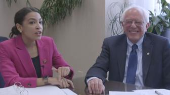 Bernie and AOC introduced their plan to cap interest rates Thursday.