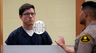 John T. Earnest, left, appears for his arraignment hearing Tuesday, April 30, 2019, in San Diego. Earnest faces charges of murder and attempted murder in the April 27 assault on the Chabad of Poway synagogue, which killed one woman and injured three people, including the rabbi. (Nelvin C. Cepeda/The San Diego Union-Tribune via AP, Pool)