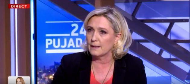 Pour Marine Le Pen, le scrutin européen est en réalité un référendum...