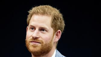Prince Harry attends the presentation of the Invictus Games The Hague 2020, in The Hague, Netherlands, on May 9, 2019. - The fifth Invictus Games The Hague 2020, an international sporting event for wounded, injured and sick servicepersonnel, will be held in the Zuiderpark in 2020. (Photo by patrick van katwijk / ANP / AFP) / Netherlands OUT        (Photo credit should read PATRICK VAN KATWIJK/AFP/Getty Images)