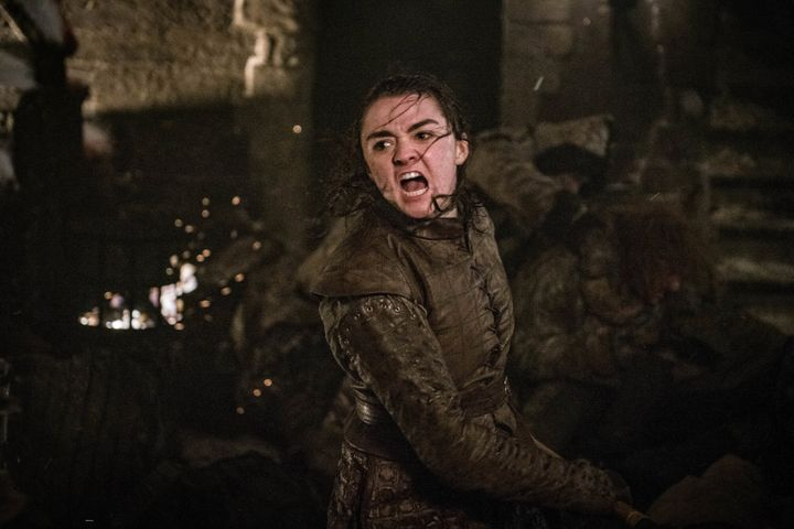 "Maisie Williams as Arya Stark in a recent ""Game of Thrones"" episode."