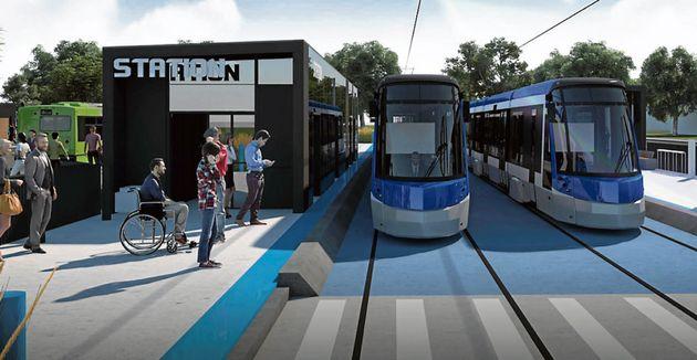 Illustration du tramway à Québec (Ville de