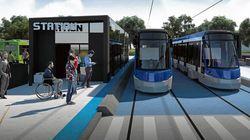 Legault propose un plus petit tramway pour