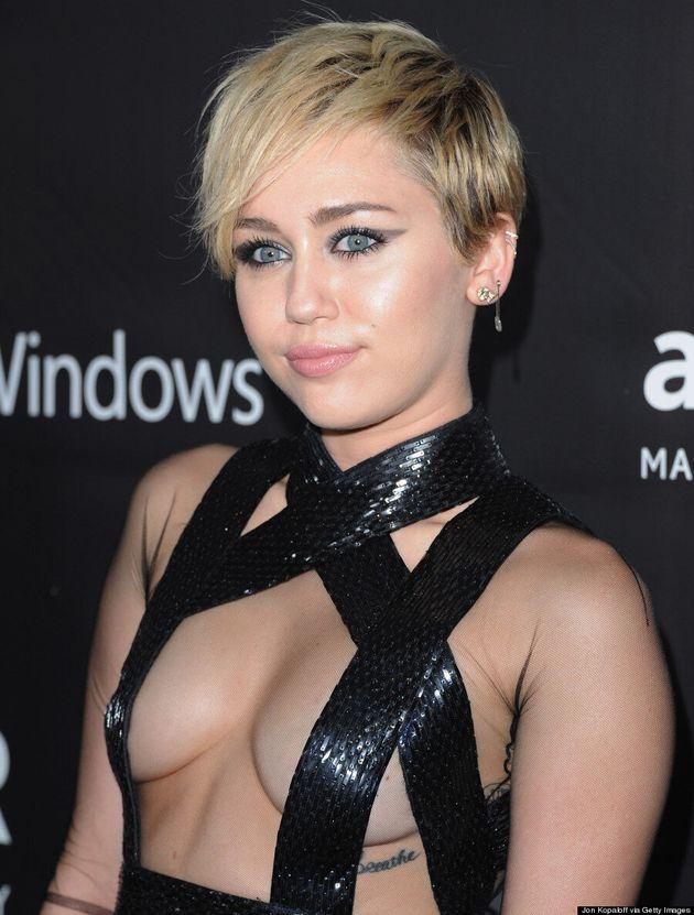 Miley Cyrus Channels Her Inner Dominatrix At amfAR
