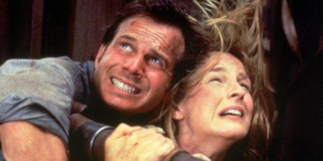 The special effects are a knockout in the movie ``Twister,'' as Helen Hunt and Bill Paxton, cling to...