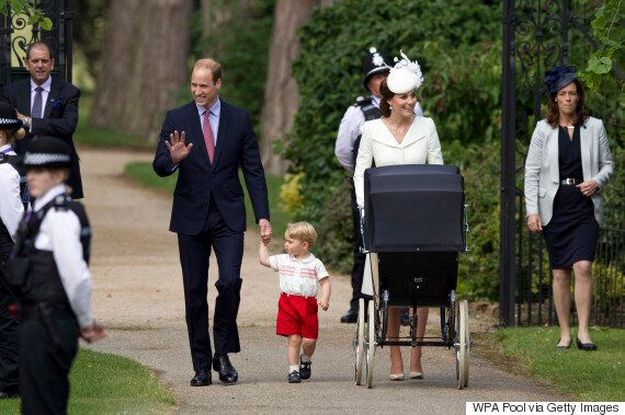Kate Middleton Is A Vision In White At Princess Charlotte's