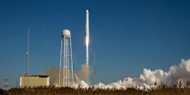 RETRANSMISSION TO CORRECT DATE TO THURSDAY JAN. 9 - An Orbital Sciences Corp. Antares rocket launches...