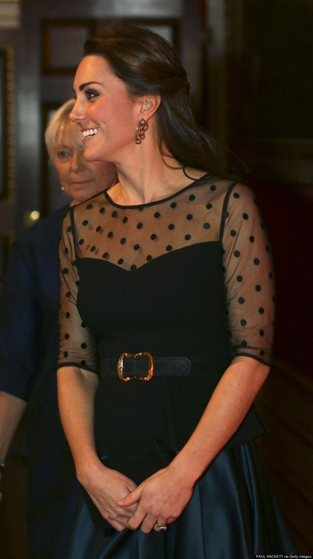 Kate Middleton Shows Some Skin At Kensington Palace