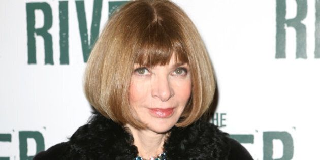 NEW YORK, NY - NOVEMBER 16: Anna Wintour attend the Broadway Opening Performance of 'The River' at Circle...