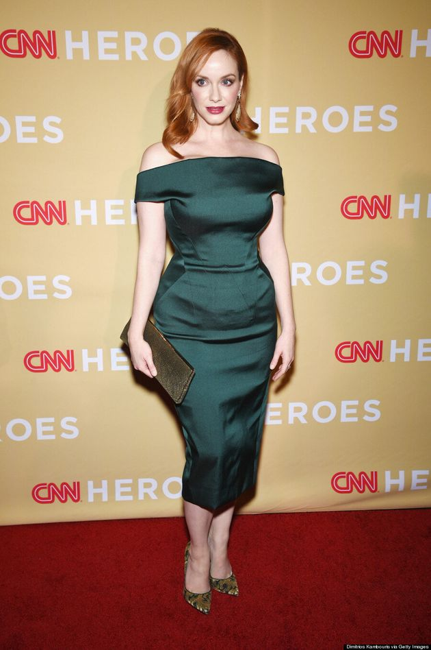 Christina Hendricks Flaunts Her Hourglass Figure At CNN Heroes Of