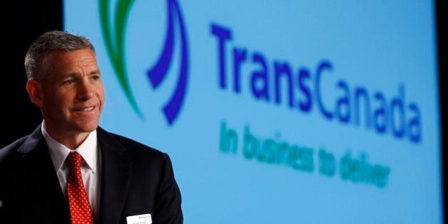 Russ Girling, president and CEO of TransCanada Corp., speaks during the company's annual meeting in Calgary,...