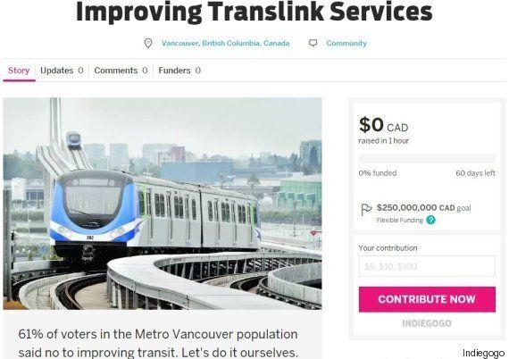 TransLink Crowdfunding Could Be $250-Million Plan