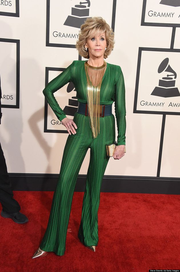 Jane Fonda Is A Goddess At The 2015 Grammys (Bow