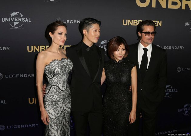 Angelina Jolie Wows In Strapless Gown At 'Unbroken'