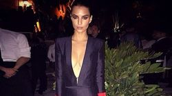 Emily Ratajkowski Makes A Classic Black Suit