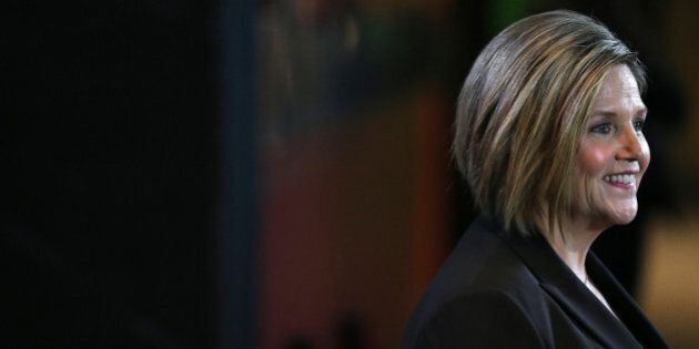 TORONTO, ON- JUNE 3 - Andrea Horwath talks to the media after the Ontario Provincial Leaders debated...