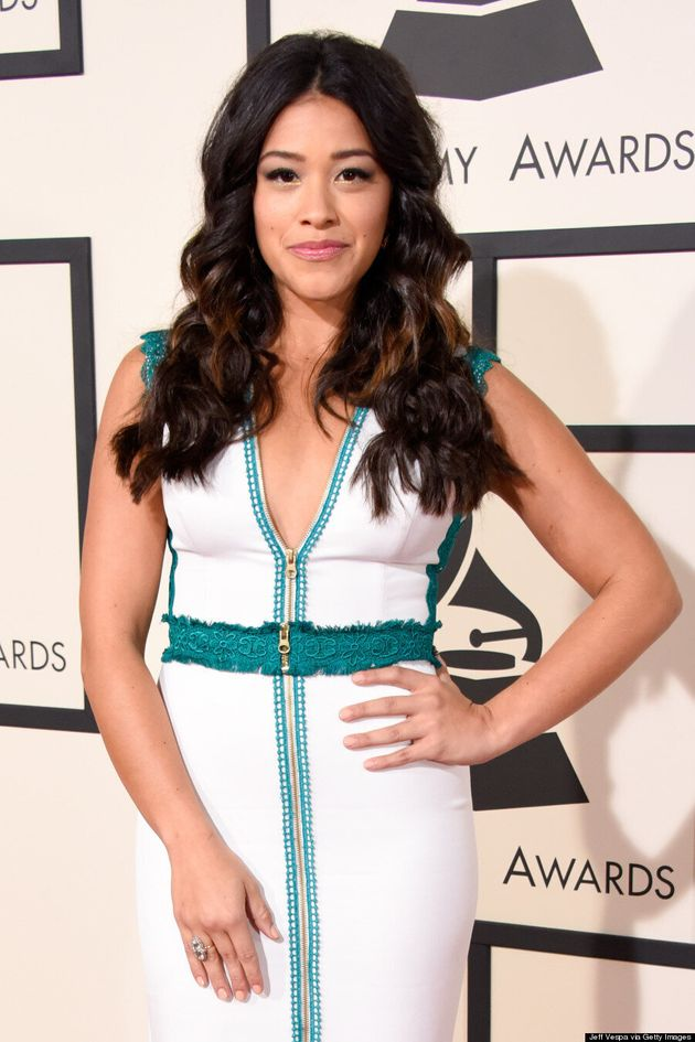Gina Rodriguez Looks Gorgeous On The Grammys 2015 Red