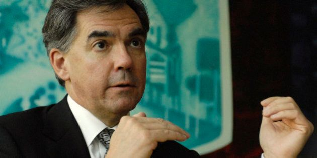 UNITED STATES - OCTOBER 30: Jim Prentice, Canada's Minister of Industry, speaks during an interview in...