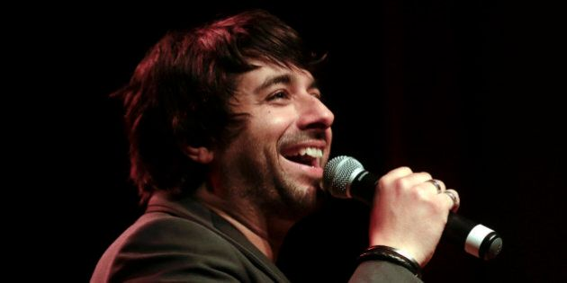 PORTLAND, OR - APRIL 24: Jian Ghomeshi records a live show at Aladdin Theater on April 24, 2014 in Portland,...