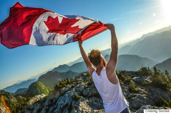 Sunrise 'O Canada' Atop B.C. Mountain Gives Us Canada Day
