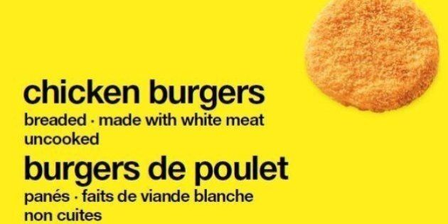 Loblaws No Name Chicken Burgers Recalled Over Salmonella