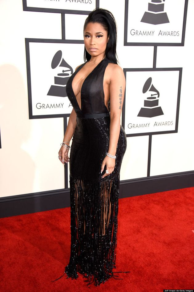 Nicki Minaj's Grammys 2015 Dress Turns Up The