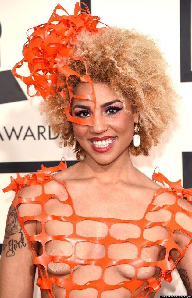 Joy Villa's Grammys 2015 Dress Is A First For The Red
