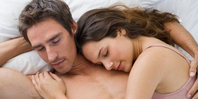 Couple sleeping in