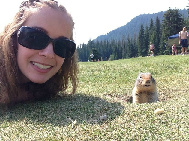 B.C. Woman Takes Selfie With Squirrel, Internet Goes