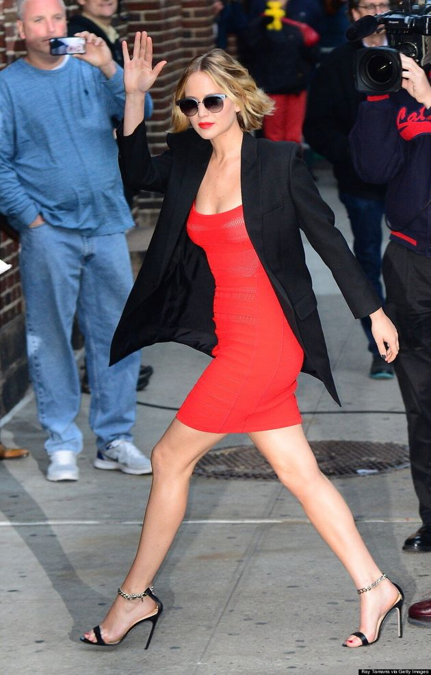 Jennifer Lawrence Is Close To Perfection In Little Red