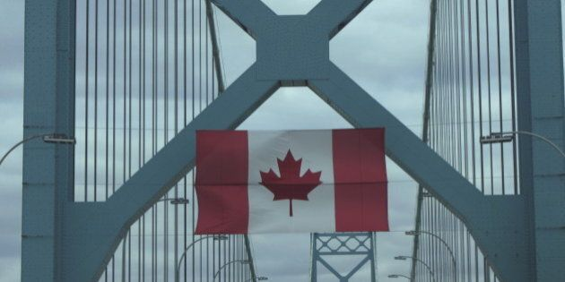 Canadian flag hanging on Ambassador