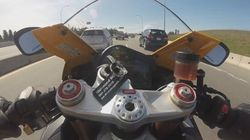 B.C. Motorcyclist Nabbed At 213 Km/H And He Helpfully Recorded