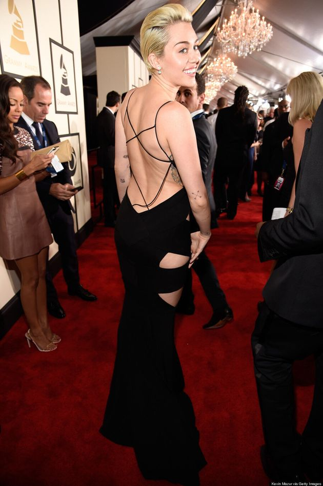 Miley Cyrus' Grammys 2015 Dress Is Ridiculously