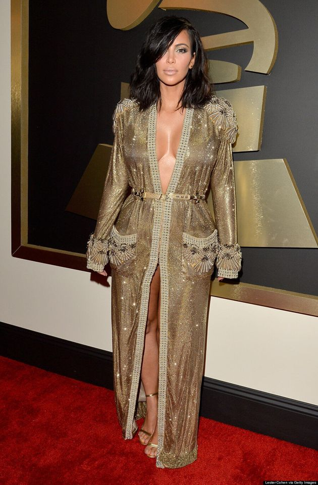 Kim Kardashian's Grammys 2015 Dress Channels Jennifer