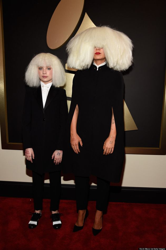 Sia Wore A Massive Wig To The 2015 Grammys, Bow
