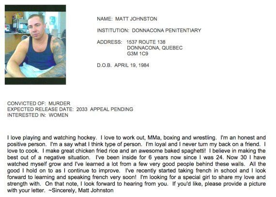 Matt Johnson, Surrey Six Killer, Looking For Love