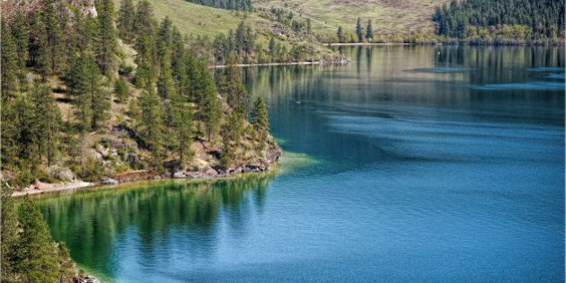 shades of blue and green - Kalamalka Lake, Vernon BC.